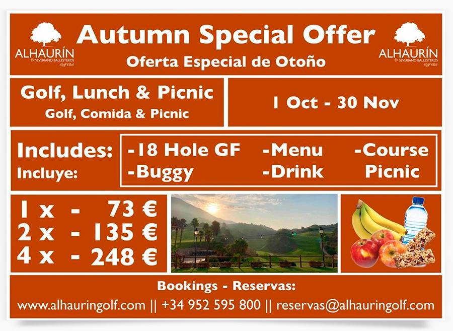 Oferta Especial Otoño 2019 en Alhaurín Golf